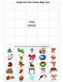 Create Your Own HOLIDAY - CHRISTMAS BINGO game