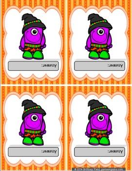 Halloween Game: Customizable Halloween Activity