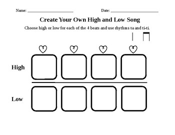 Create Your Own High and Low Song