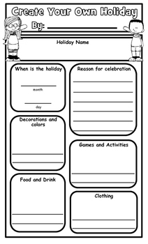 Create Your Own Holiday Graphic Organizer and Presentation Poster