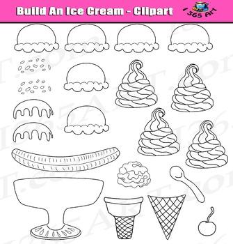 Build An Ice Cream Clipart Set