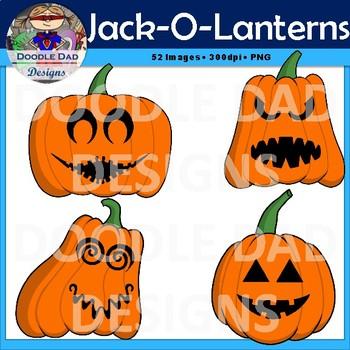 Create Your Own Jack-O-Lantern Clip Art (Halloween, Pumpkin, Faces)