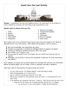 Create Your Own Law! Simulation Activity