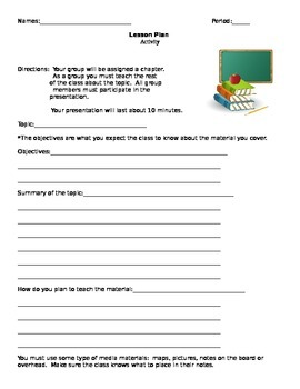 Create Your Own Lesson Plan