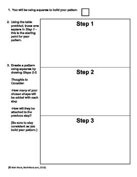 Create Your Own Linear Pattern Project - Studying Linear Relationships