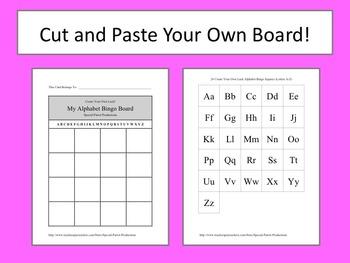 Alphabet Bingo - Create Your Own Luck!