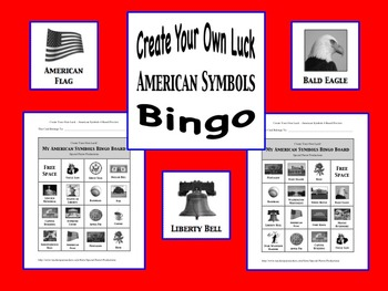 American Symbols Bingo - Create Your Own Luck!