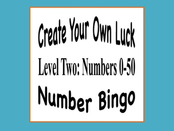 Number Bingo (Numbers 0-50) - Create Your Own Luck!