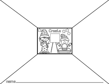 Create Your Own Magic Poster and Black & White Page- Art Room Poster