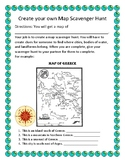 Create Your Own Map Scavenger Hunt- Geography
