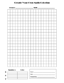Create Your Own Math Coloring Page