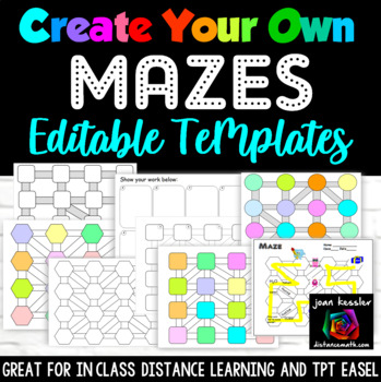Create Your Own Maze Editable Template Kit
