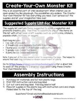 Create-Your-Own Monster Kit