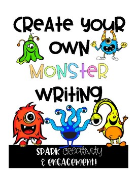 Creative Writing Activity: Create Your Own Monster (Digital + Printable Options)