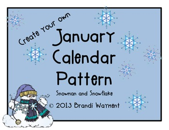 Create Your Own Monthly Calendar Patterns
