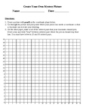 Create Your Own Mystery Picture- Coordinate Planes