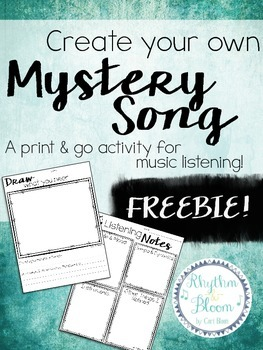 FREE Create Your Own Mystery Song