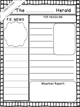 Create Your Own Newspaper Informative Writing