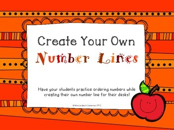 Create Your Own Number Lines for Primary Students
