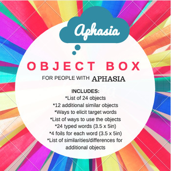 Create Your Own OBJECT BOX - For adults with aphasia
