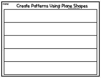 Create Your Own Patterns (Plane and Solid Shapes)