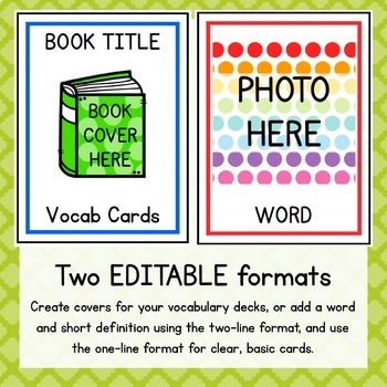 Create-Your-Own Picture Vocabulary Cards SAMPLE
