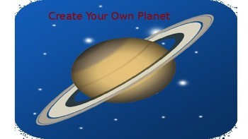 Create Your Own Planet Science Fiction Project