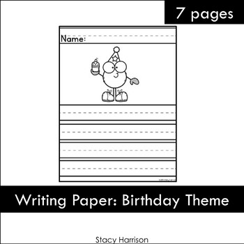 Writing Paper: Birthday Theme