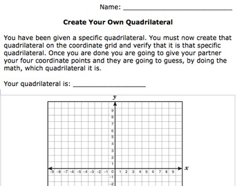 Create Your Own Quadrilateral