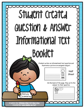 Create Your Own Question and Answer Informational Text Book