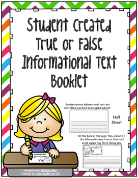 Create Your Own True or False Informational Text Book