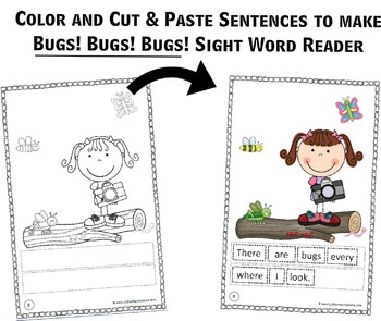 Create-Your-Own Reader - Bugs! Bugs! Bugs!  (Practice Building Sentences)