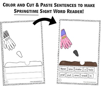 Create-Your-Own Reader - Springtime  (Practice Building Sentences)