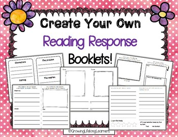Create Your Own Reading Response Booklets