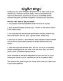 Create-Your-Own Rhythm BINGO