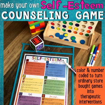 SELF-ESTEEM & LOCUS OF CONTROL Counseling Game: CBT, Goal Setting & Empowerment