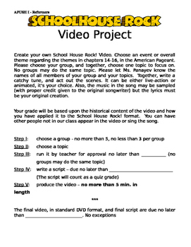 Create Your Own Schoolhouse Rock Project - American Reformers