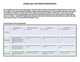 Create Your Own Science Board Game Directions and Rubric