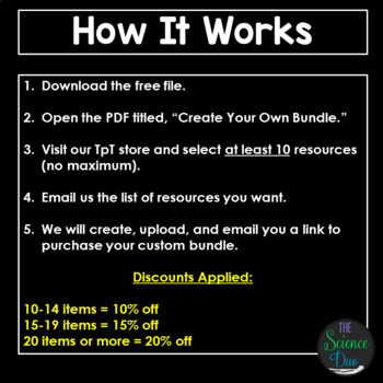 Create Your Own - Science Bundle