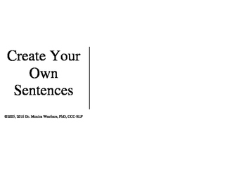 Create Your Own Sentences