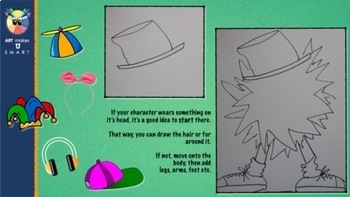 Create Your Own Seuss Inspired Character Art Lesson Powerpoint