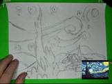 Create Your Own Starry Night Van Gogh Art Masterpiece Step