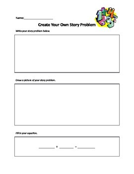 Create Your Own Story Problem