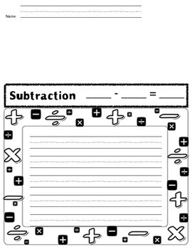 Create Your Own Story Problem (addition and subtraction)