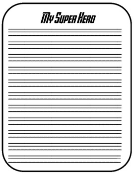 Create Your Own Super Hero Writing Activity