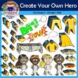 Create Your Own Superhero Clip Art (Customize, Build, Dres