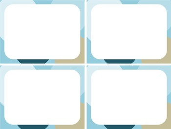 Create Your Own Task Cards: Big Dots; click and type task card frames