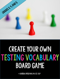 Create Your Own Testing Vocabulary Game