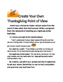 Create Your Own Thanksgiving Point of View