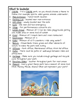Create Your Own Theme Park Project